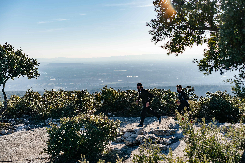 le parcours du trail des monts de vaucluse Saumane